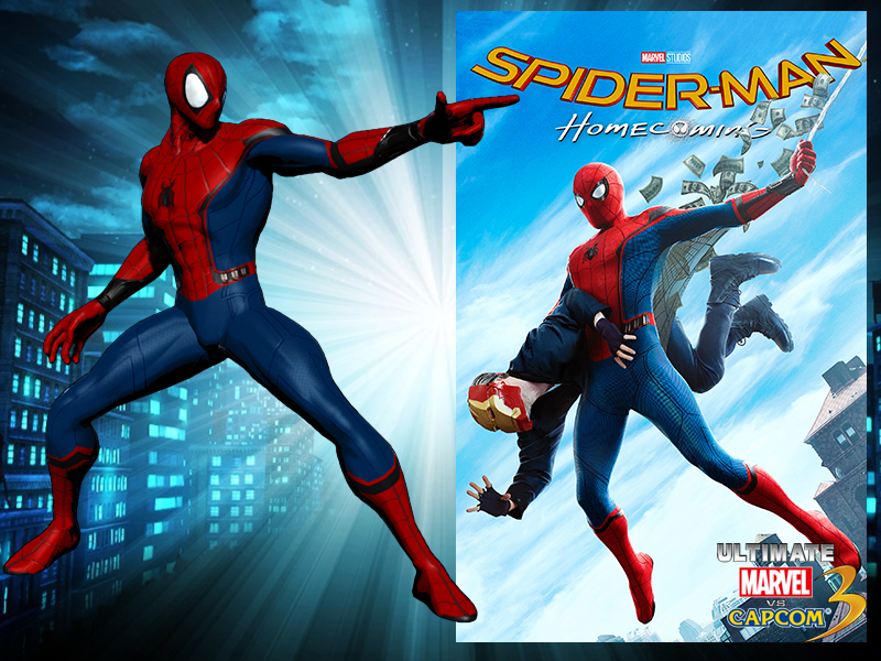Homecoming Spider-Man for UMvC3 by Fewtch on DeviantArt