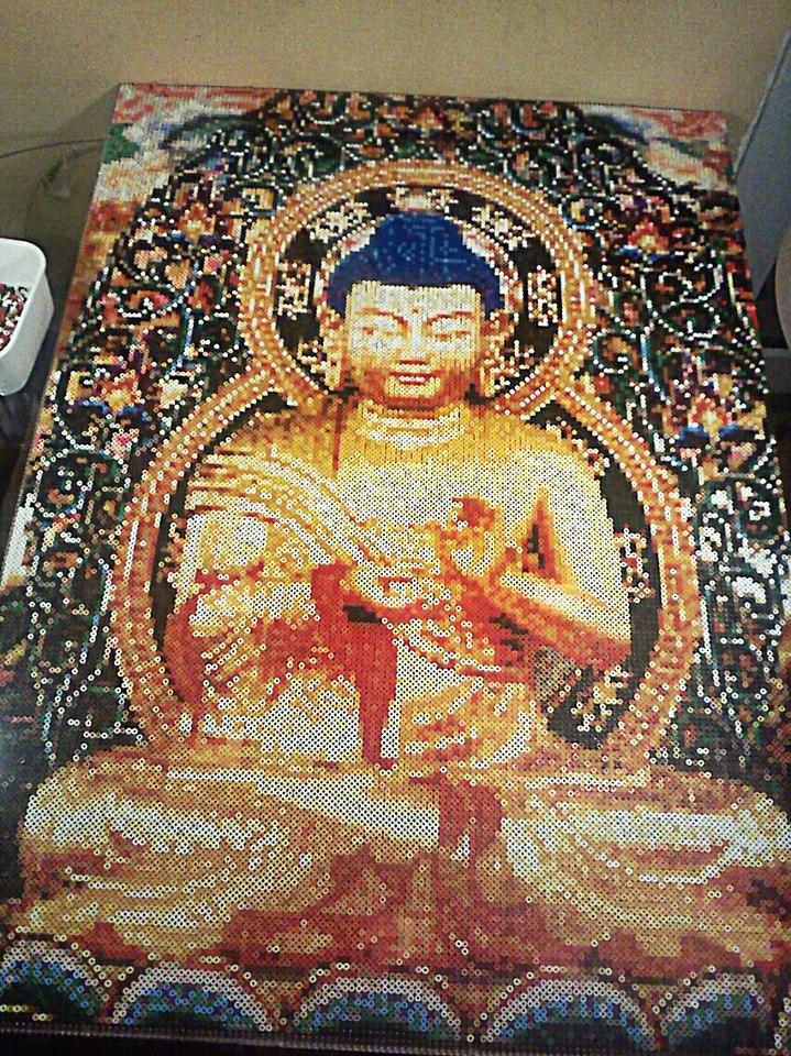 Hama / Perler beads Buddha by Kirikina on DeviantArt