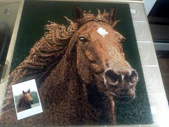 Hama / Perler Beads - Duchess - Morgan Horse by Kirikina