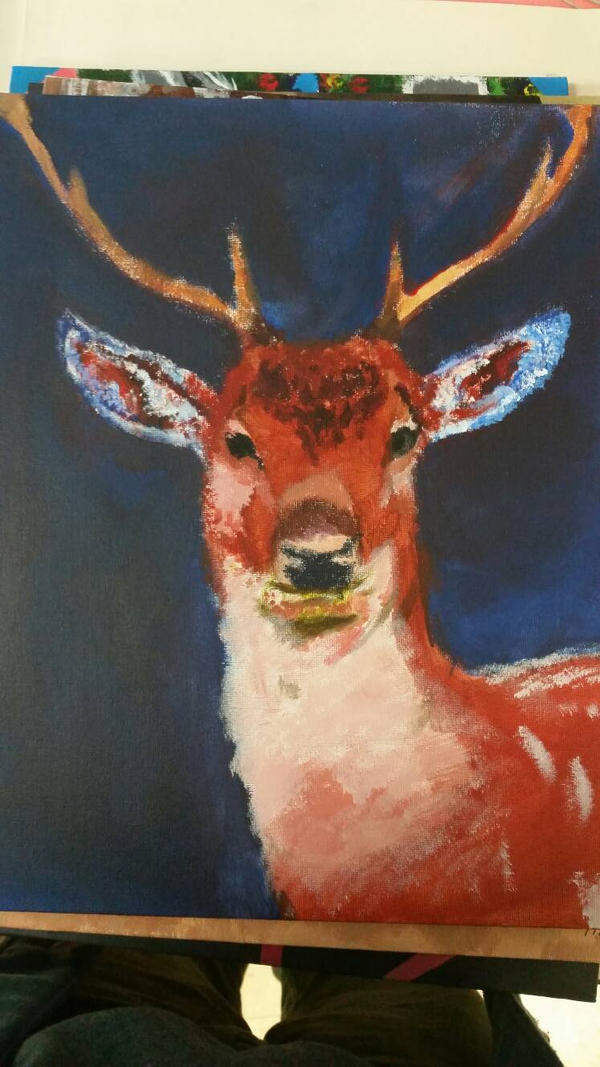 deer painting  by christopher72