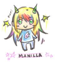 Puff Manilla chibi by Petshop17