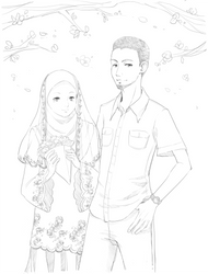 TM com: S.N.O.W. couple lineart by Petshop17
