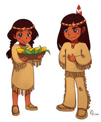 Native American Pair by Petshop17