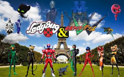 miraculous ladybug and kamen rider double