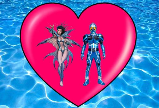 Aspen Matthews and Kamen rider aqua