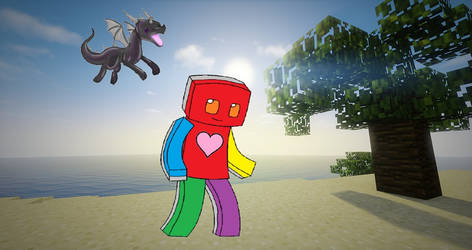 Color Guy And His Baby Ender Dragon