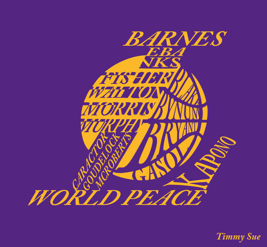 LA Lakers Logo by timmytheazn on DeviantArt