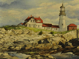 Lighthouse by darkenedmyth