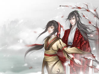 : Falling Plum Blossom - Jinxuan and Xia : by AngelGlows