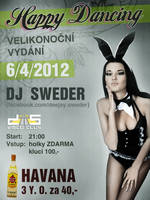 Happy Dancing, Easter party at Club D5 - flyer by weronicamc