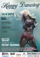 Happy Dancing at Pekelnej Bar, Prague - flyer by weronicamc