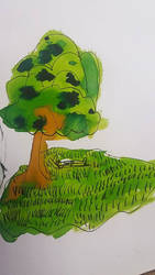 Summer tree | drawning by my daughter by weronicamc