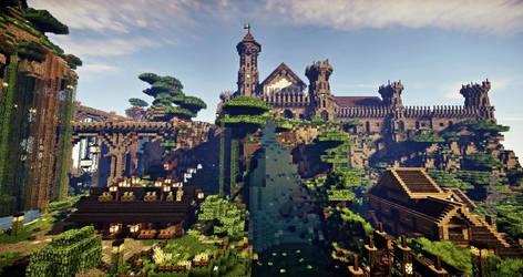 MINECRAFT ARCHITECTURE | Medieval castle, village by weronicamc