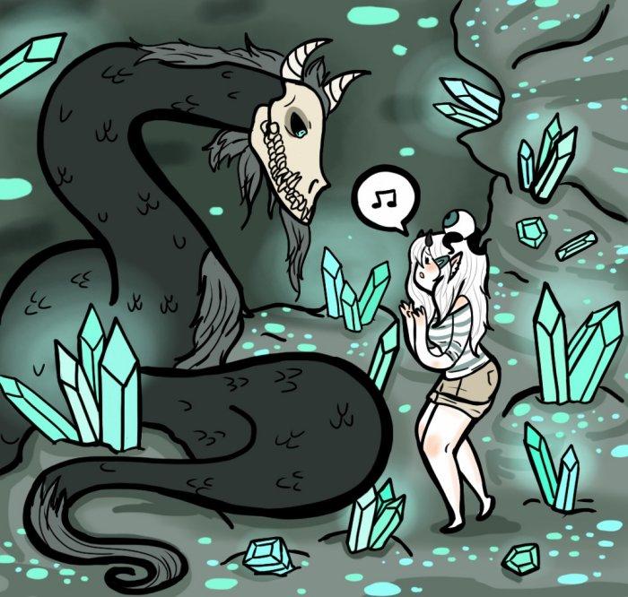 A Wyrm's Lullaby by AskGrendella