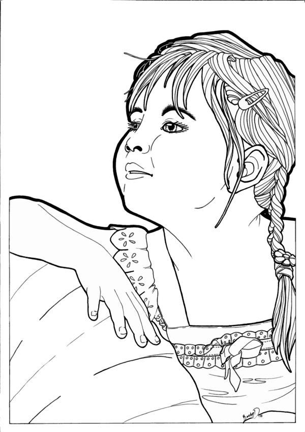Pumpkin Pie Line Art by BeckyDIllustrations