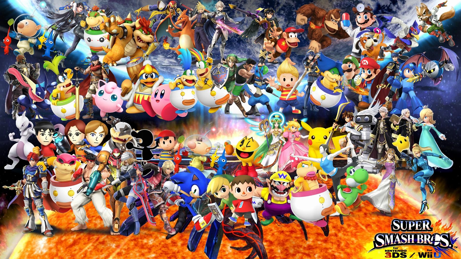 Super Smash Bros 4 Wallpaper By Yoink13 On Deviantart