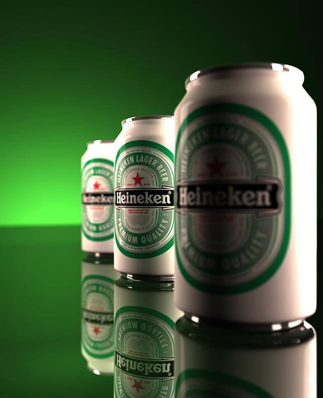 Heineken Beer 3D by arielitem