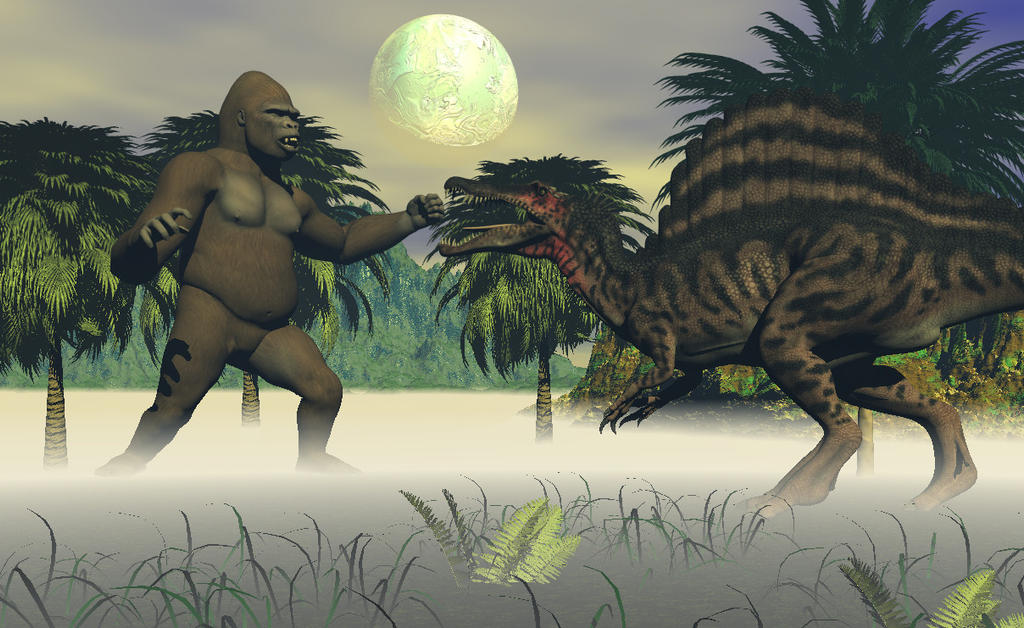 Kong vs Spinosaurus by TeddyBlackBear2040 on DeviantArt