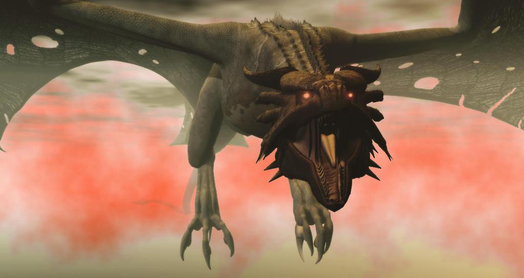 Faeone Mountain Dragon Legend by TeddyBlackBear2040