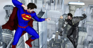 Young Superman VS General Zod