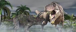 T-Rex Vs Triceratops.