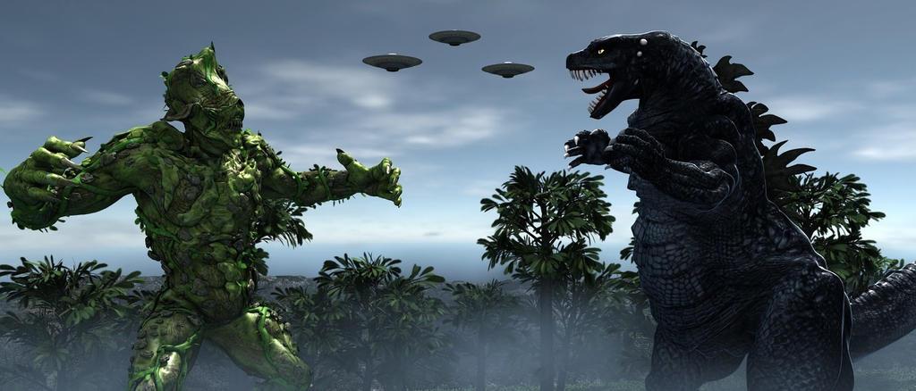Godzilla Vs Zazazor by TeddyBlackBear2040