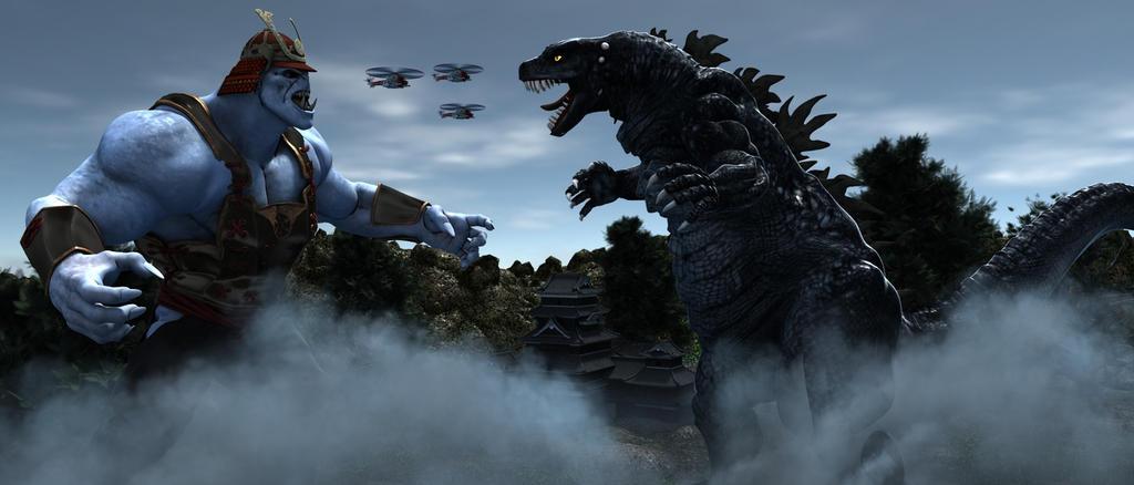 Godzilla Vs The Yokohama Valley Legend. by TeddyBlackBear2040