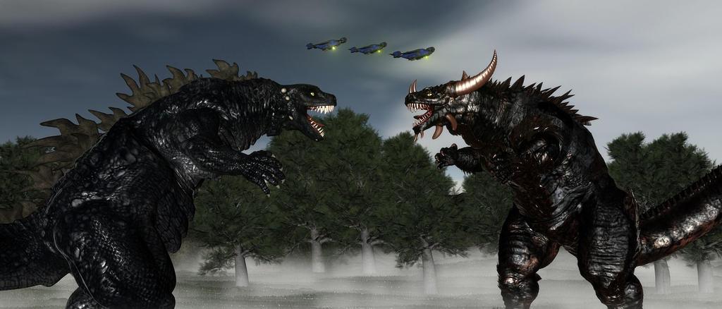 Godzilla Vs Stormagadan by TeddyBlackBear2040