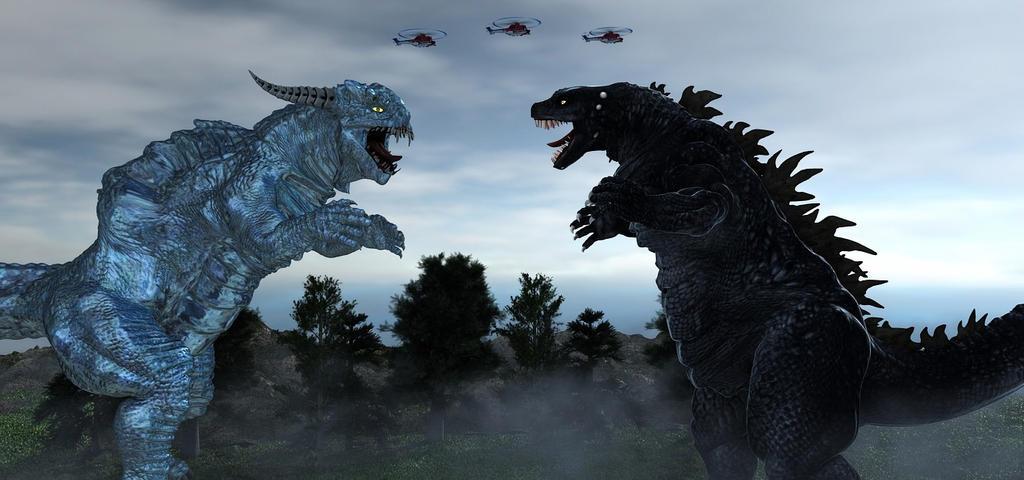 Godzilla Vs Xaz-Ru-Tor by TeddyBlackBear2040