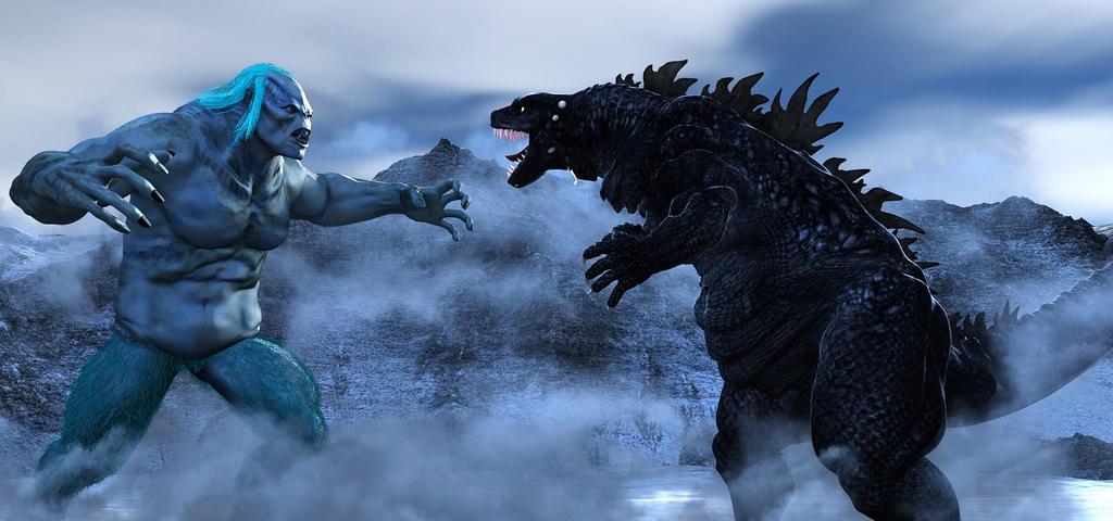 Godzilla Vs The Great Watchuka by TeddyBlackBear2040
