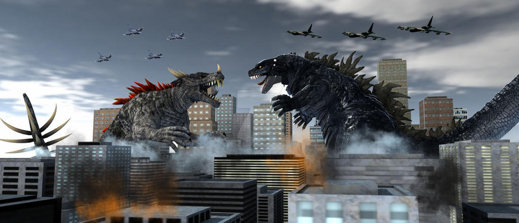 Godzilla Vs Anguirasaurus by TeddyBlackBear2040