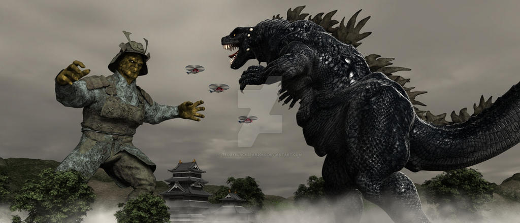 Godzilla Vs Yokohama Majin Legend by TeddyBlackBear2040