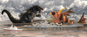 Godzilla Vs The Sunami Bay Legend