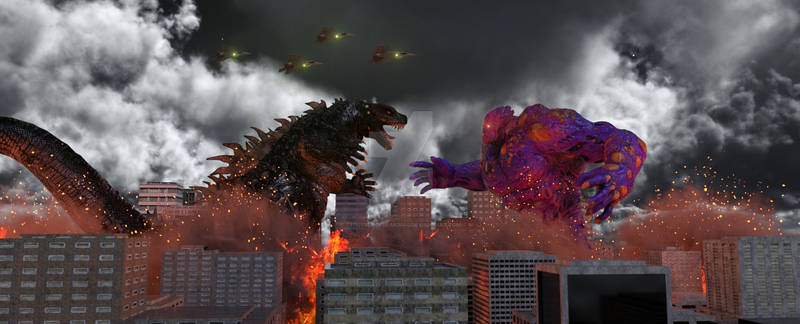 Godzilla Vs The Moon Monster