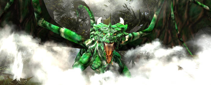 Green Dragon Legend Of Morgania Forest