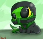 baby chibi Reptile MK - hug me by TheDarkstarlduxd