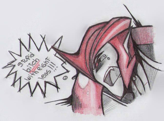 Stupid eight-legged_ sad Knockout by TheDarkstarlduxd
