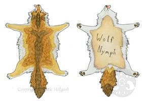 Wolf Nymph Pelt Badge by KatieHofgard