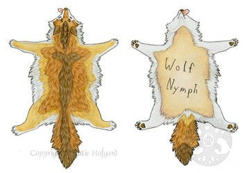 Wolf Nymph Pelt Badge by KatieHofgard