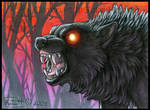 Night Wolf ACEO