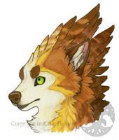 Alternative Wolf Nymph Face by KatieHofgard