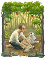 Jonny Appleseed Helps the Wolf by KatieHofgard