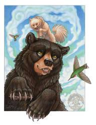 Wolfy and The Black Bear by KatieHofgard