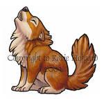 Little Brown Wolf - Sticker