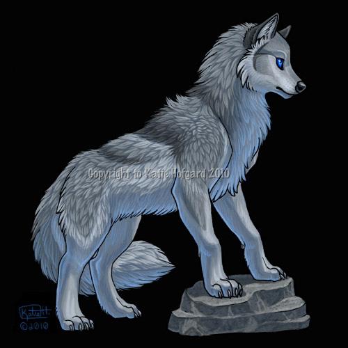 Silver wolf blue eyes