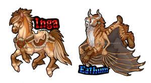 Inga and Eathum Badges