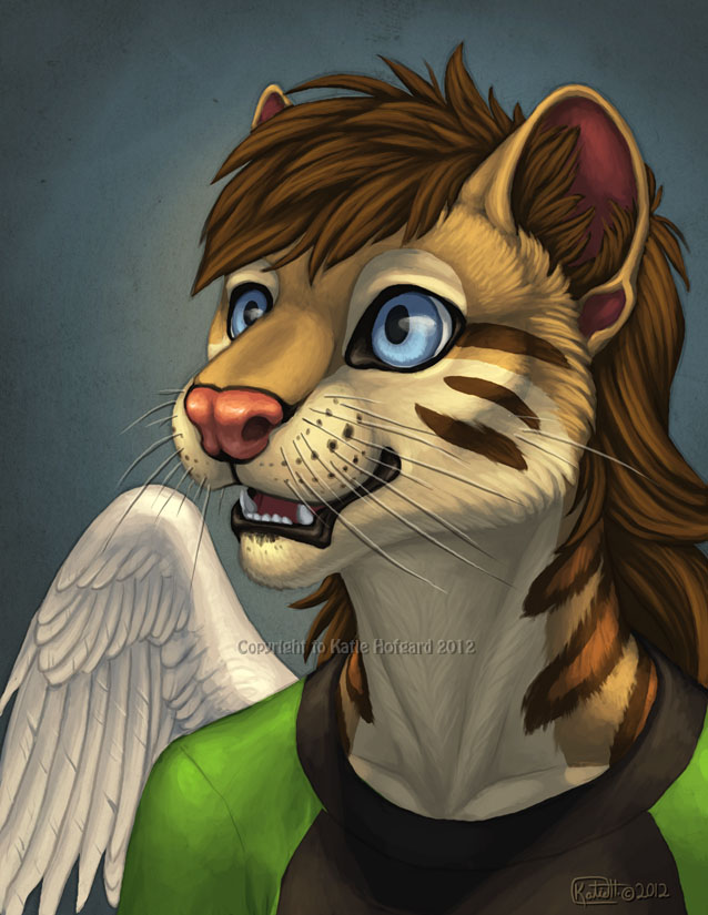 Loka Bust Painting by Shadow-Wolf