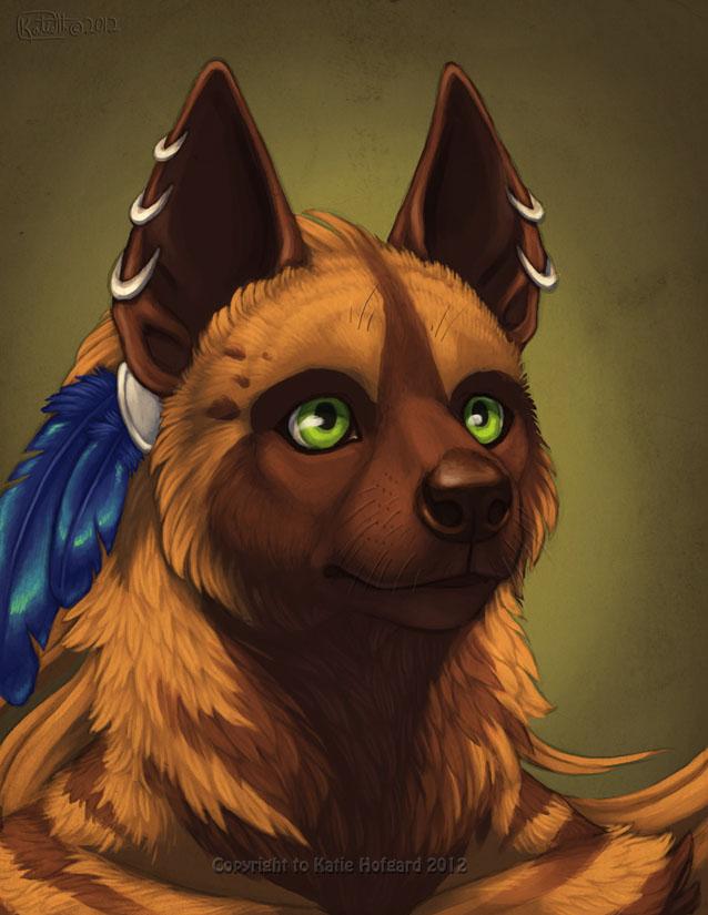 Kikivuli Portrait by Shadow-Wolf
