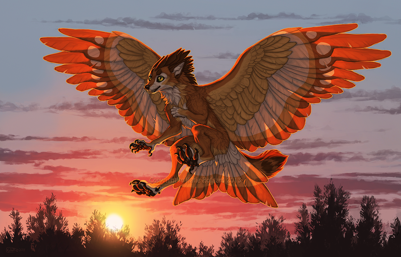 Sunset Landing by Shadow-Wolf