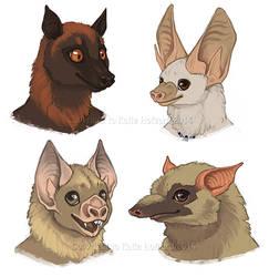Bat Faces - Furries Furever Art Book by KatieHofgard